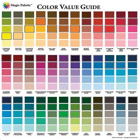 color values magic palette artist s color value guide foxy studio