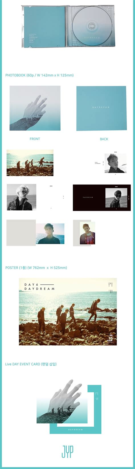 Cd Day6 2nd Mini Album The Day by Day6 2nd Mini Album Daydream Cd Poster