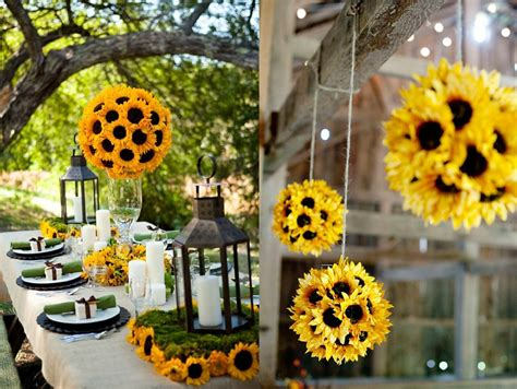 sonal  shah event consultants llc sunflower decor