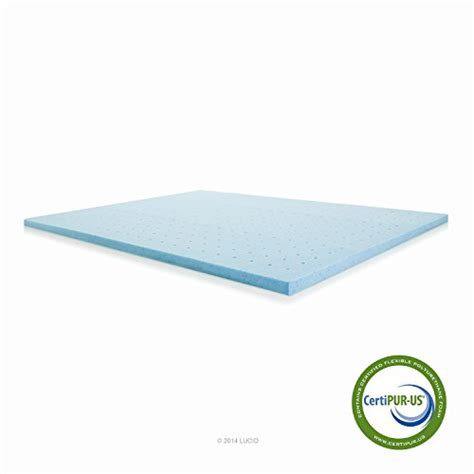 2 In Memory Foam Mattress Topper by Lucid 2 Inch Gel Infused Ventilated Memory Foam Mattress