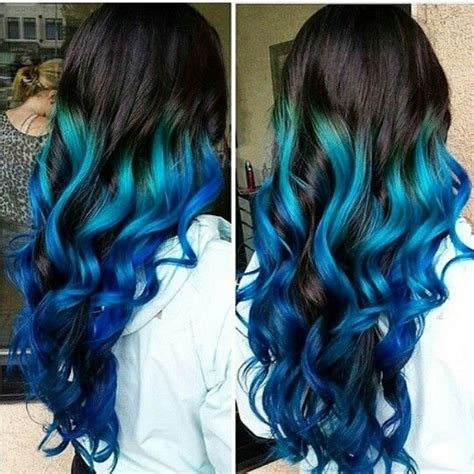 ombre colorful hair blue ombre dyed hair colorful hair lookbook
