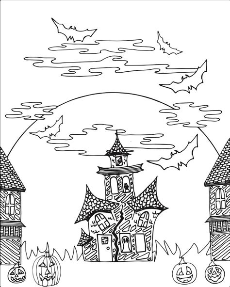 halloween coloring pages castle 17 best images about v 228 ritett 228 vi 228 kuvia on pinterest gel