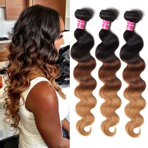 body wave weave hairstyle pictures julia human ombre body wave brazilian hair 3 bundles weave