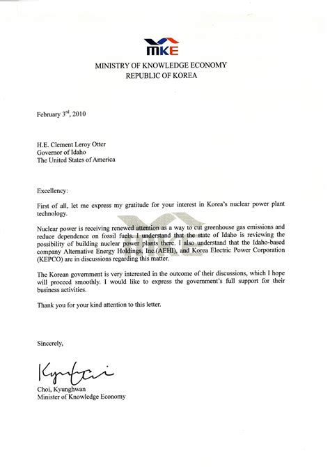 Business Letter Format For Government business letter format government official sle