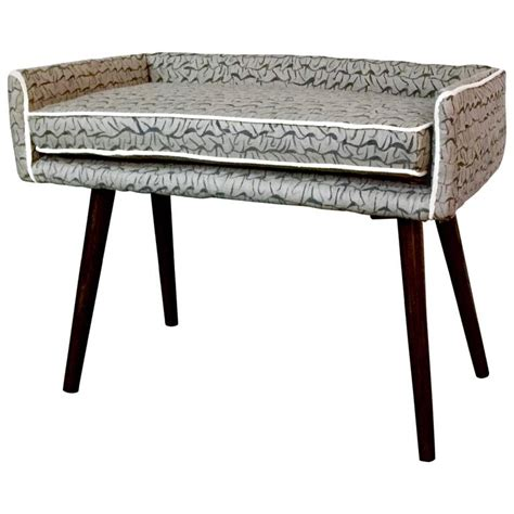 Collecting Stool Sle by Gendo Collection Vanity Sized Stool In Gray Painted