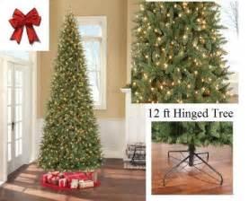 12 ft tall artificial slim christmas tree w 1100 lights