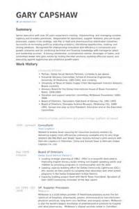 Resume For Board Of Directors by Board Of Directors Cv Exle Visualcv Resume Sles Database