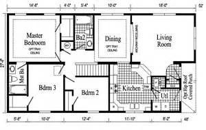 Floor House Plans by Newport Ranch Style Modular Home Pennwest Homes Model S