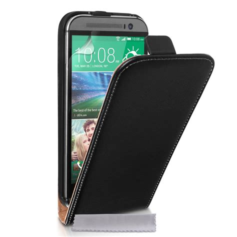 Flip Cover For Htc One M8 caseflex htc one m8 real leather flip black