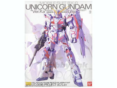 Jaket Gundam Unicorn E F S F Army Canvas Ja Gdu 07 1 100 mg unicorn gundam ver ka by bandai hobbylink japan