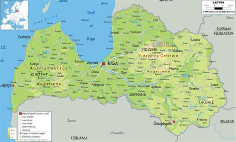 where is latvia on a map latvia physical map topography map of latvia geography