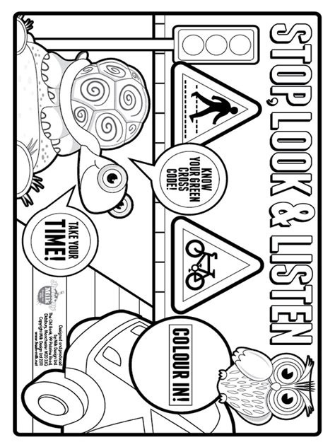 Road Safety Posters To Colour Www Imgkid Com The Image Safety Colouring Pages