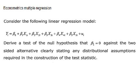 Econometrics 3 In 6 solved econometrics regression consider the foll chegg