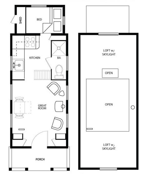 cottage style house plan 1 beds 1 baths 290 sq ft plan