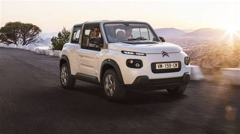 Citroen Electric Car by Citroen Introduces The E Mehari Electric Car