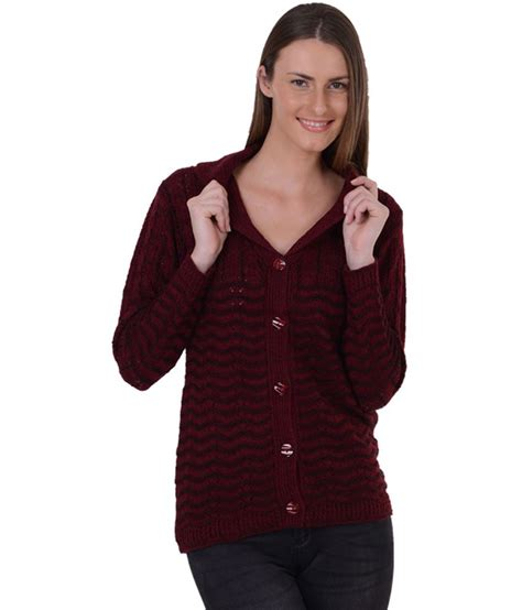 Sweater King Maroon by Sportking Maroon Cardigan Sweater For Buy