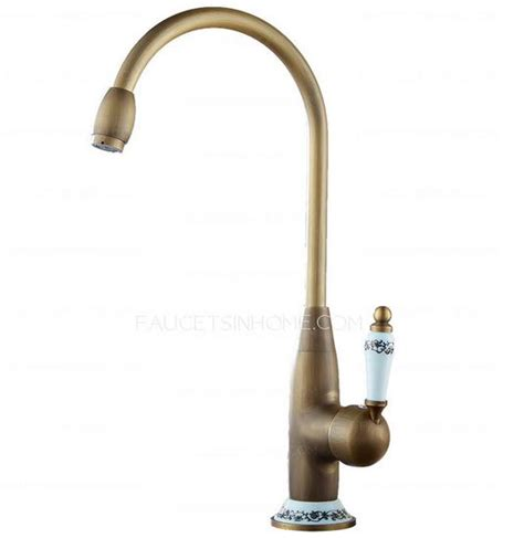 antique brass kitchen faucets designer high arc antique brass ceramic kitchen faucets