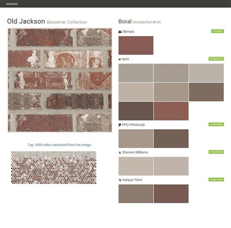 old jackson bessemer collection residential brick boral behr olympic ppg paints sherwin
