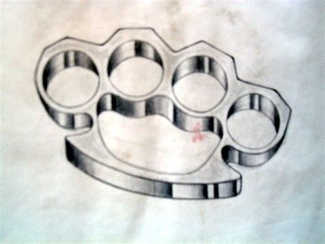 brass knuckle tattoo brass knuckles best 3d ideas
