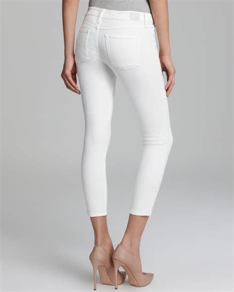 Guess Tanggal White 2 lyst guess zip cropped in white
