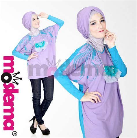 Kaos Larel Kaos Simple Wanita Kaos Trendy Kaos Polos Casual Sh model baju muslim wanita bahan kaos terbaru 2016