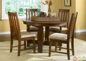 mission oak casual dining furniture set