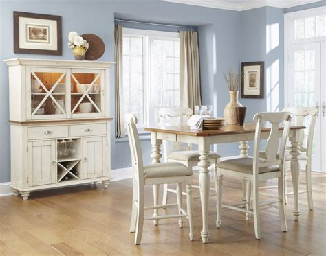 Casual Dining Furniture Isle Bisque Finish Casual Dining Furniture Set
