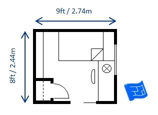 Normal Bedroom Size In Meters by What Is The Standard Size Of A Single Bed Quora