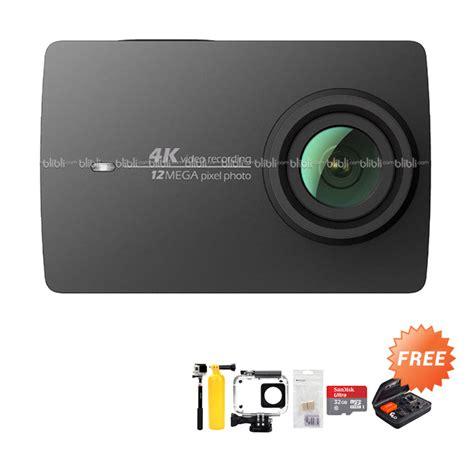 Xiaomi Yi 2 4k Internasional Version Paket Hemat 4a jual xiaomi yi 4k ii ver 2 international version paket hemat hitam free
