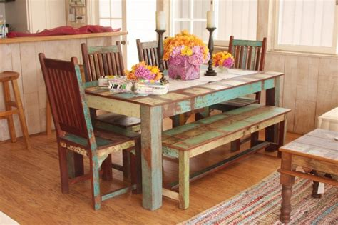 A Bench In Your Dining Sets Decohoms Indian Style Dining Table And Chairs