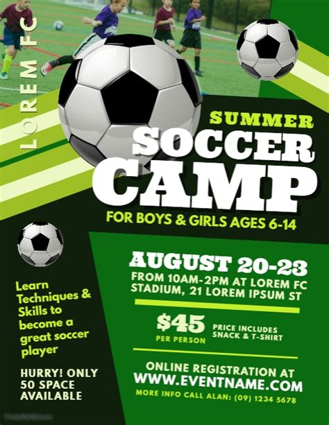 Soccer Event Flyer Templates