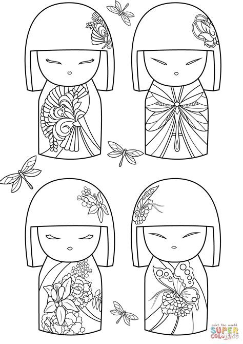 coloring pages of japanese dolls kimmi dolls coloring page free printable coloring pages
