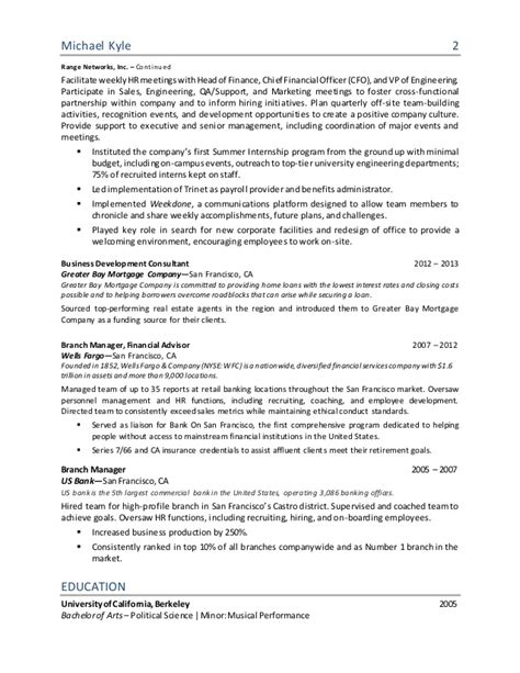 Hr Manager Resume Sle Pdf by Cv Template Hr Director Gallery Certificate Design And