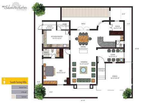 house plans south facing india house plans