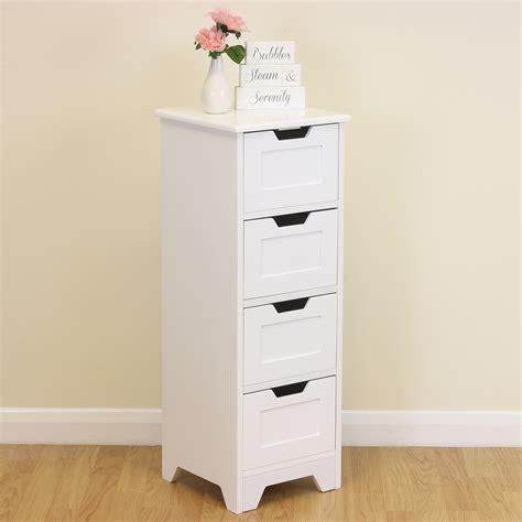 tidy storage cupboard white free standing slim white 4 drawer floor storage unit cabinet home organiser tidy