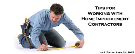 tips for working with home improvement contractors the