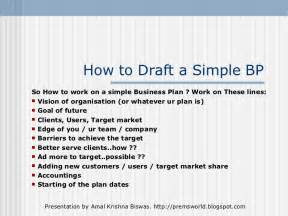 Simplified Business Plan Template by A Simple But Effective Business Plan