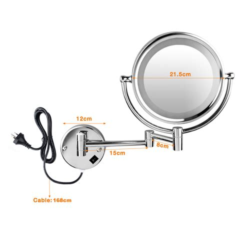 magnifying bathroom mirror with light 8 5 inch large makeup mirror dual side 7 10x magnifying