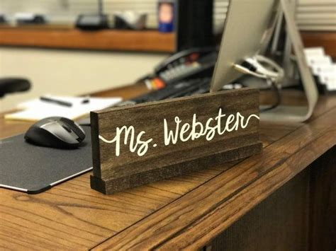 wooden name signs for desk best 25 name signs ideas on