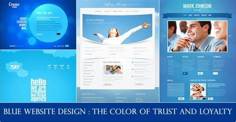 color of loyalty blue website design the color of trust and loyalty entheos