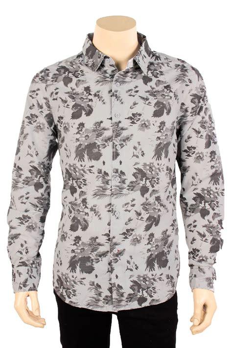 Dress Casual Custom Keren Motif Floral Limited Edtion floral pattern button shirt mens artee shirt