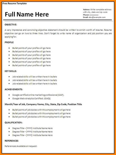 11 How To Make A Cv For Work Experience Points Of Origins How To Make A Resume Without A Template