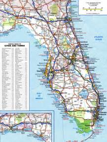 florida map large detailed roads and highways map of florida state