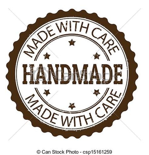 Handcrafted Pictures - clipart vector of handmade st handmade grunge rubber