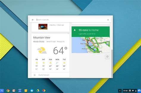 material design google now chrome os ontvangt google now en material design update