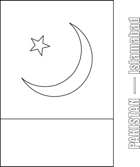 pakistan flag coloring page download free pakistan flag