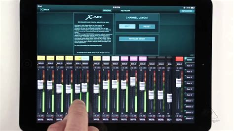 youtube layout ipad x air how to setup channel names fader layout ipad