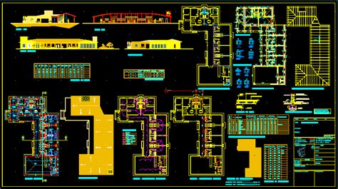 modern resort  dwg design full project  autocad