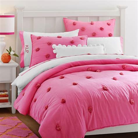 puff quilt comforter crinkle puff quilt sham bright pink pbteen