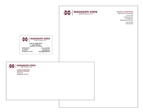Msu Business Card Template by Office Of Affairs Mississippi State